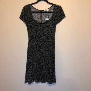 Hollister mini dress zebra print